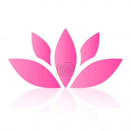 Illustration for Vector lotus flower - Royalty Free Image