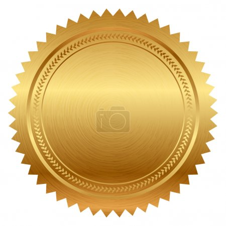 Illustration for Vector illustration of gold seal - Royalty Free Image
