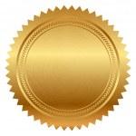 Vector illustration of gold seal...
