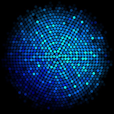 Illustration for Vector blue disco lights background - Royalty Free Image