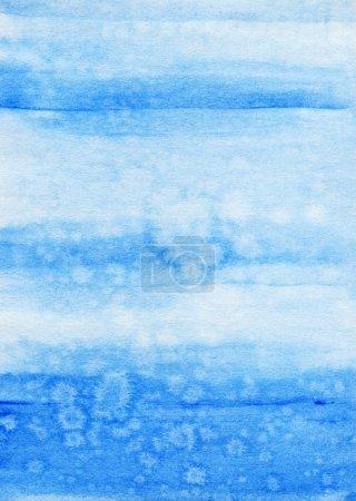 Photo pour Aquarelle fond bleu. Texture artistique abstraite . - image libre de droit