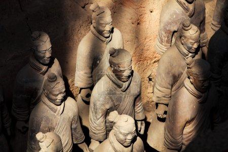Terracotta warriors in sunlight