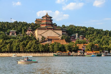 The summer palace in the city of Beijing