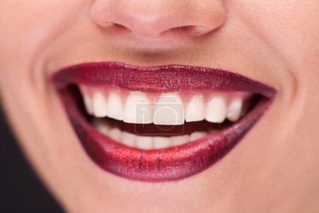 Closeup of smiling lips
