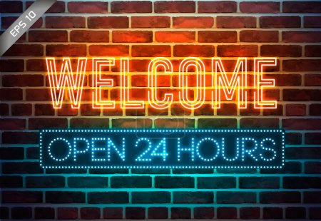 Illustration for Urban neon signs - Royalty Free Image