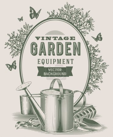 Illustration for Vintage garden equipment - Royalty Free Image