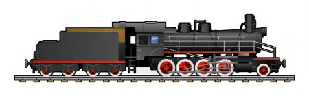 Illustration for Illustration of a train. Simple gradients only - no gradient mesh. - Royalty Free Image