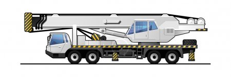 Illustration for Illustration of a autocrane. Simple gradients only - no gradient mesh. - Royalty Free Image
