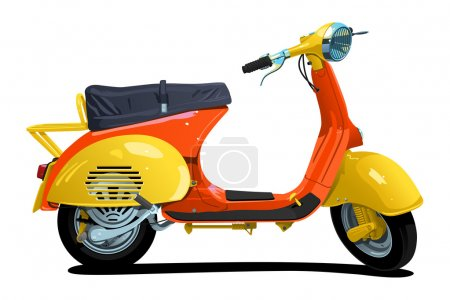 Retro scooter.