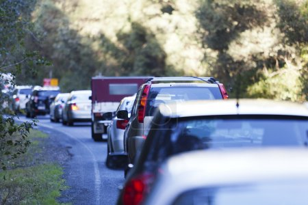 Photo for Traffic jam on Australian highway due to road works. - Royalty Free Image