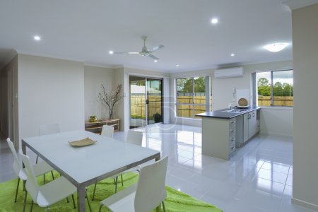 New kitchen and dining area