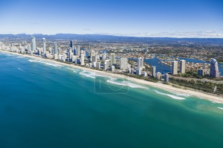 Photo for Aerial view of Gold Coast, Queensland, Australia - Royalty Free Image
