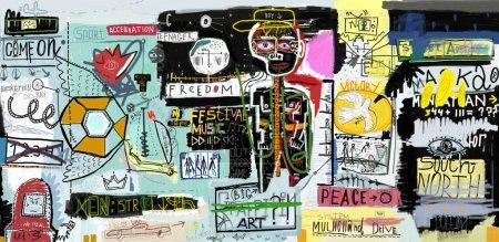 Photo pour La peinture, qui contient une série de caractères - image libre de droit