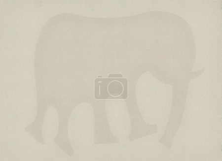 Symbolic image of the elephant which is on a white...