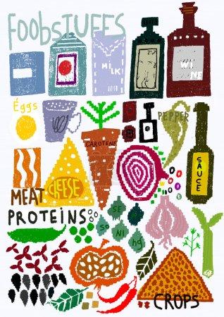 Illustration pour Image de nourriture saine - image libre de droit