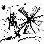 Schematic representation of Don Quixote and his sq...