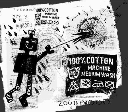 Symbolic image of the robot with dandelio...