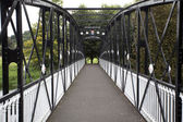Old iron bridge over the Trent river in Burton on Trent - East Staffordshire - England