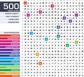 500 icons set