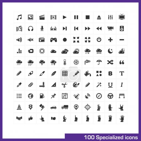 100 specialized icons set.