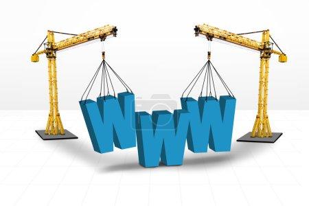 Internet building website concept
