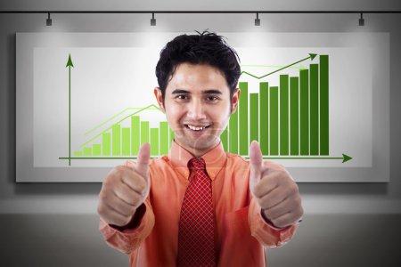 Businessman gain profit