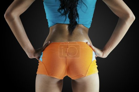 Fitness female buttocks