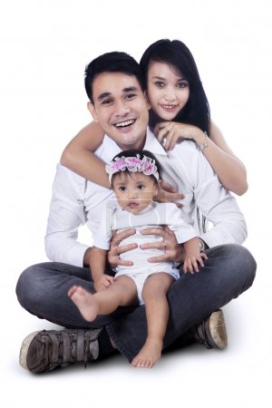 Happy Young Family - Isolated