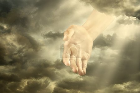 Hand of a god down from the sky...
