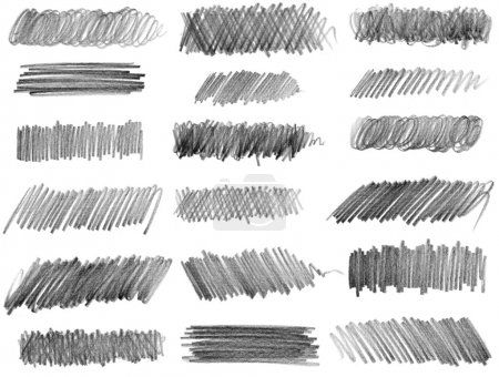 Photo for Pencil drawing. Strokes of gray pencils - Royalty Free Image