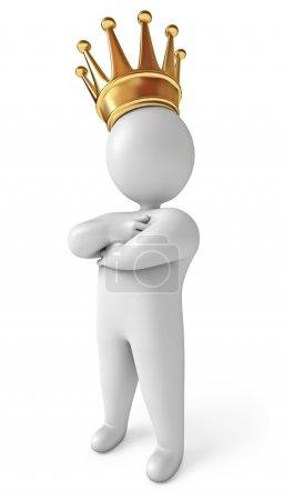 Photo pour Homme à la couronne - image libre de droit