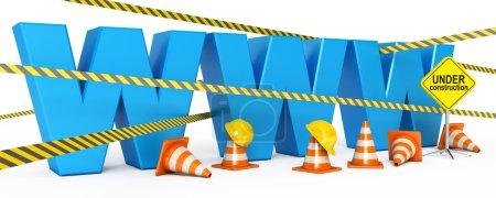 Photo pour Page Web est en construction. icône isolé sur fond blanc. rendu 3D - image libre de droit