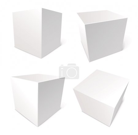Illustration for Blank box isolated on white background, vector illustration, set - Royalty Free Image