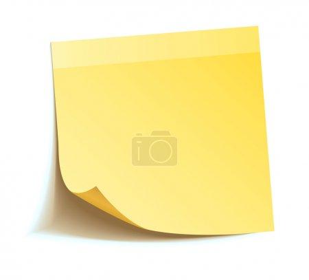 Illustration pour Stick jaune isolé sur fond blanc, illustration vectorielle - image libre de droit