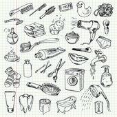 """Постер, картина, фотообои """"FreeHand Рисование гигиены и моющие средства"""""""