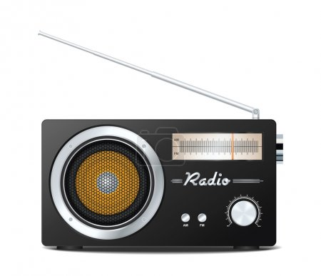 Retro radio. Vector illustration