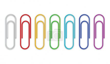 Illustration for Paper clips set. Vector illustration - Royalty Free Image
