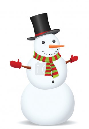 Snowman. Vector illustration