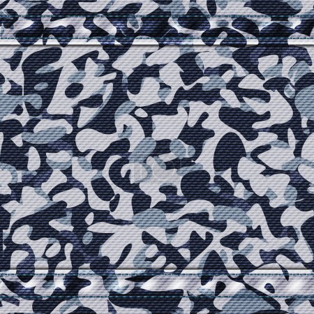 Military camouflage blue pattern