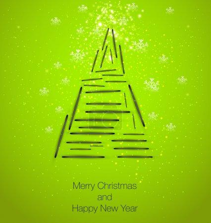 Illustration pour Arbre de Noël, facile à modifier - image libre de droit