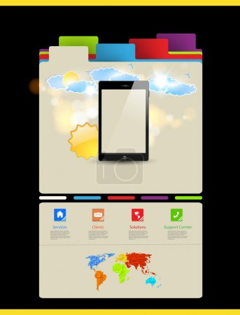 Website template, Touchscreen Mobile