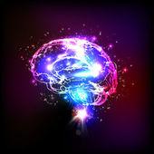 Abstract light human brain vector illustration