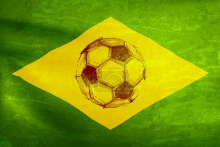 watercolor soccer ball, world cup 2014  easy all editable