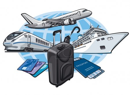 Illustration for Transort for travel concept - Royalty Free Image