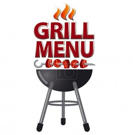 Illustration for Grill menu card design - Royalty Free Image