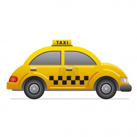 Illustration pour Icône de taxi - image libre de droit