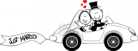 Wedding invite car funny