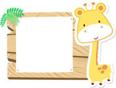 Baby giraffe scrapbook background