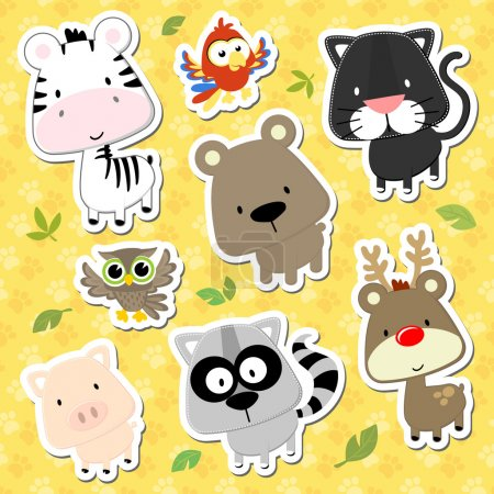Cute baby animals cartoon vector collection