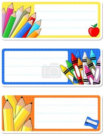 School notebook labels